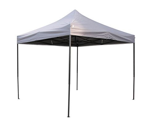 All Seasons Gazebos, 3x3m Heavy Duty, Fully Waterproof, PVC Coated, Premium Pop up Gazebo, Comes with Carry Bag With Wheels and 4 x Leg Weight Bags (Metallic Grey)