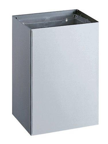 Bobrick 275 en acier inoxydable 304 Montage en surface prise de déchets, Satiné, 20 Gallon Contenance, 16–1/5,1 cm Largeur x 58,4 cm Hauteur X 12–1/5,1 cm Profondeur