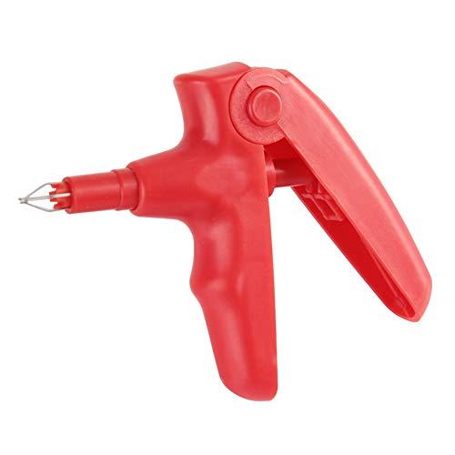 KieferorthopäDische Ligaturpistolenwerkzeuge, Dental Composite Gun Dispenser, Orales KieferorthopäDisches Ligationszahninstrument FüR die KieferorthopäDie(Rot)