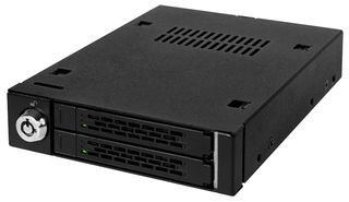 Icy Dock ToughArmor MB992SK-B - Wechselrahmen für 2x 2,5 Zoll (6,4cm) SATA SSD/HDD in 1x 3,5 Zoll (8,9cm) - Vollmetall