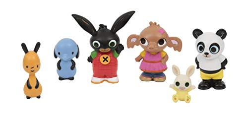 Bing - Pack de 6 figuritas, de los Personajes Principales de la Serie, Recomendado para niños de 1...