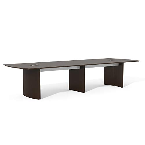 Safco Products Medina Modern Office Conference Meeting Room Table, 12', Mocha