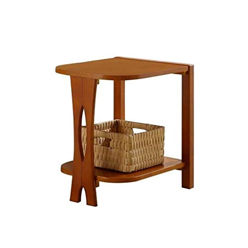 WSHFHDLC coffee table End Tables Small Side Table Sofa Solid Wood Sofa Mini Coffee Table Living Room American Second Floor Storage End Table small coffee tables (Size : Light Walnut)