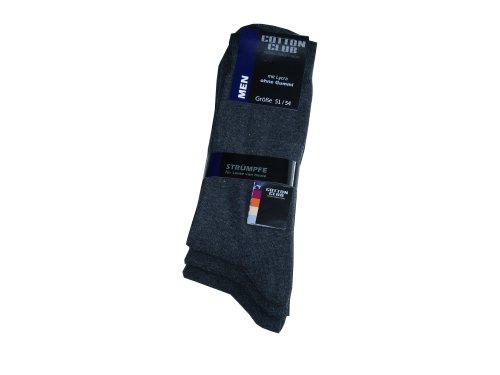 Cotton Club 6 Paar Herren-Socken ohne Gummi Übergröße