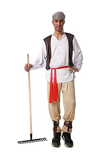 Costumizate! Disfraz de Campesino Talla Unica Especial de Navidad