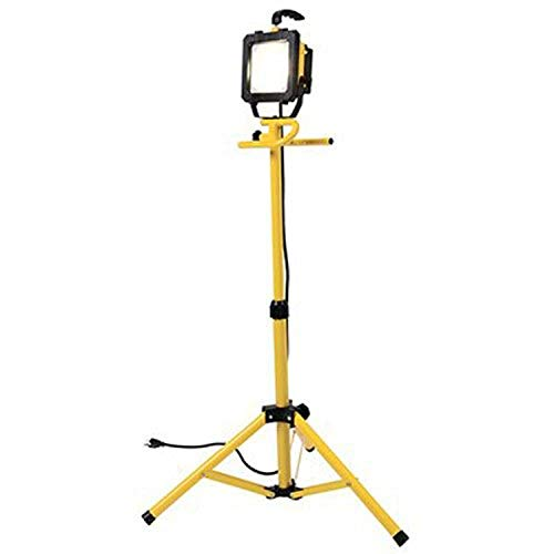 All Pro LED Portable Worklight with Telescoping Tripod, 46-Inch, 300-watt Equivalent, 2600 Lumens, Yellow