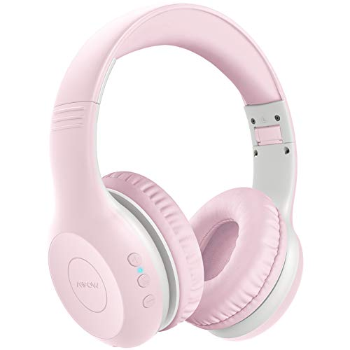 314aDSvRIWL - Kids Headphones Bluetooth Wireless 85db Volume Limited Childrens Headset, up to 6-8 Hours Play, Stereo Sound, SD Card Slot, Over-Ear and Build-in Mic Wireless/Wired Headphones for Boys Girls(Blue)