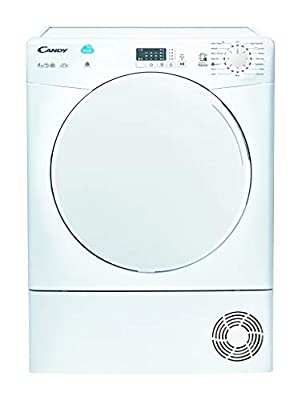 Candy CSC8LF Freestanding Condenser Tumble Dryer, Sensor Dry, NFC Connected, 8kg Load, White