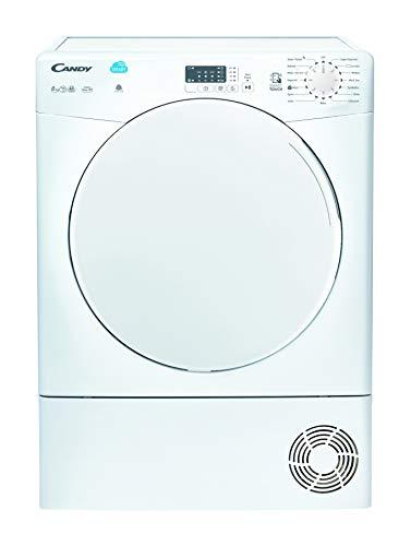 Candy CSC8LF Freestanding Condenser Tumble Dryer, Sensor Dry, NFC Connected, 8kg Load, White, Decibel rating: 68, EU Acoustic Class: C