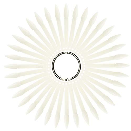 Tipfächer Stiletto natur mit 36 Präsentation Nagelspitzen mit Metallring - NAILFUN Tip Sticks Fächer Display Nail Art Tips