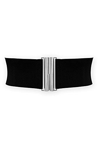 BlackButterfly 7.5 CM Ancho Elástico Cintura Cinturón (Negro, ES 38-40)