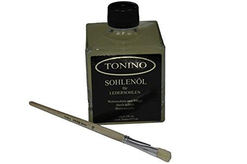 (EUR 7,56/100 ml) Tonino Sohlenöl zum Schutz + Pflege von Ledersohlen 250 ml