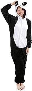 Panda Adult Unisex Onesies Animal Cartoon Siamese Pajamas Home Wear Cosplay Pajamas Flannel Sleepwear Home Clothes for Women Men,Size S