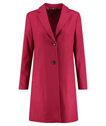 Marc O'Polo Damen Mantel Kaschmirwolle Warme Jacke Unifarben Rot 36