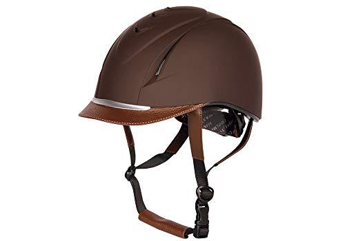 Harry's Horse Veiligheidscap, Challenge, Farbe:braun, Größe:M/L