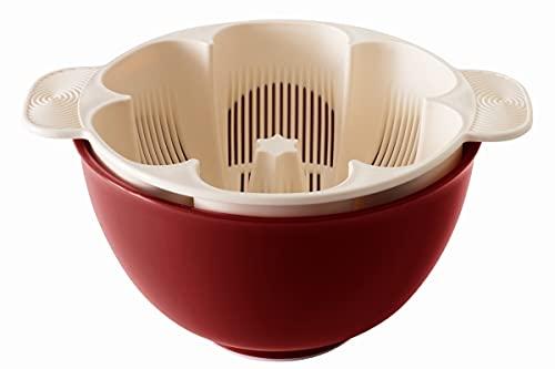 銀しゃり名人 深紅 手を濡らさず美味しいご飯が炊ける米とぎ器1合〜5合用