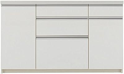 パモウナ 食器棚WL パールホワイト 幅140×高さ85×奥行50 日本製 WLA-1400R下台