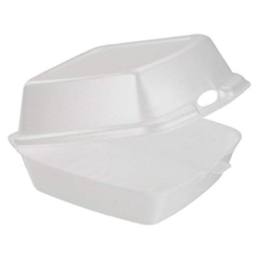 Dart 60HT1 Carryout Food Containers, Foam, 1-Comp, 5 7/8 x 6 x 3, White (Pack of 50)