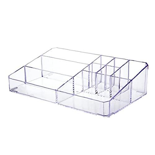 Organisateur de maquillage Boîte de rangement cosmétique acrylique transparent Cas d'affichage avec 9 compartiment, Home Essentials