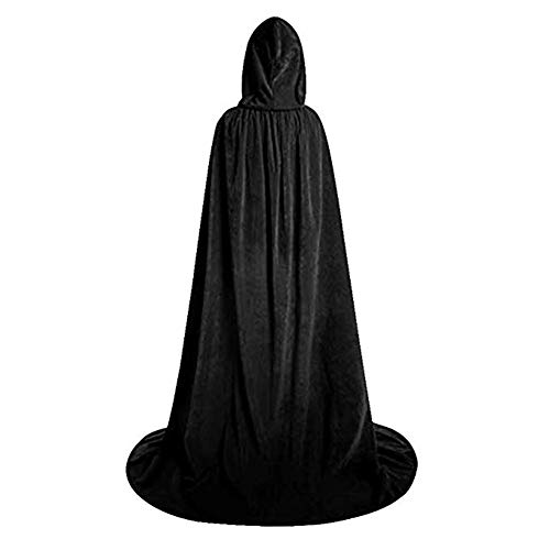 Capa Negra Con Capucha  marca Fafcitvz