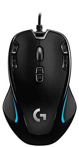 Logitech G300s Optical Ambidextrous Gaming Mouse - 9 Programmable Buttons, Onboard Memory (Renewed)