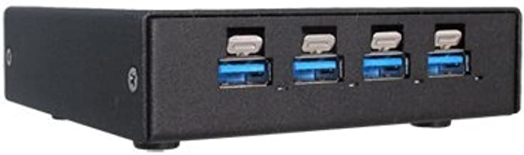 Rugged, Industrial Grade, 4-Port SuperSpeed USB 3.1 Hub with High-Retention USB Connectors and Extended Temperature Operation (USB3-104-HUB)