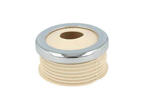 STEDO -ST100138- Euro WC-Spülrohrverbinder Ø 55 mm für Druckspülrohr weiß, mit Rosette