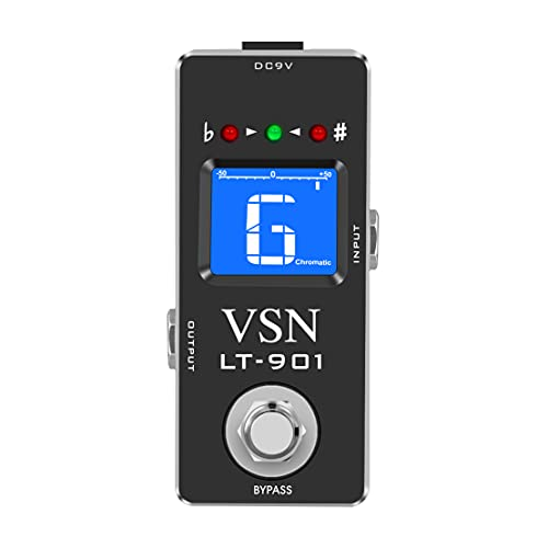 VSN Guitar Chromatic Tuner Pedal for High Precision Guitar Bass Tuner Pedal ± 1 Cent...