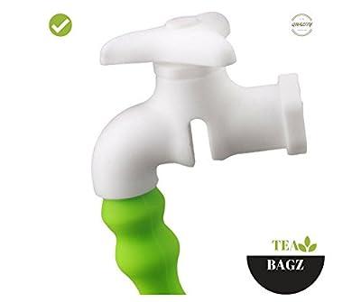 TEA-BAGZ/ Lot de 2 Infuseurs de Thé /En forme de Robinet Original/ Idéal pour une infusion Bio/Tisane/Thé vert,/ Thé noir/ Accessoires Home et Cuisine/ Diffuseur à Thé Original/ Diffuseur à Thé de Haute Qualité / Diffuseur de thé 100% silicone/ Infuseur à