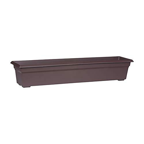 Countryside Flower Box Planter, Brown, 36-Inch