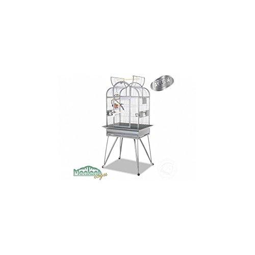 Montana Cages ® | Sittichkäfig Havana der Vogelkäfig BZW. Voliere für Wellensittich & Co. in hellgrau