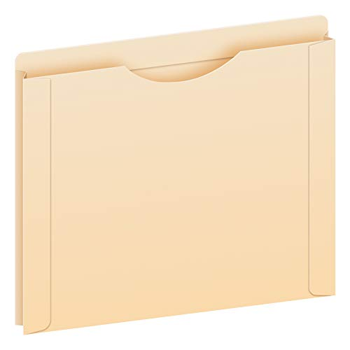 """Pendaflex Reinforced File Jackets, Letter Size, Manila, 1"""" Expansion, Reinforced Straight-Cut Tabs with Thumb Cut, 50 per Box (22100EE)"""
