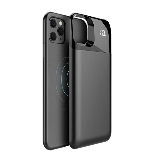 hardwrk Magnetic Battery Case - kompatibel mit Apple iPhone 11 Pro - Wireless Charging - Magnetisch haftbar - 5000 mAh Kapazität - kabellose Aufladung Qi - Powerbank Power-Hülle externer Akku