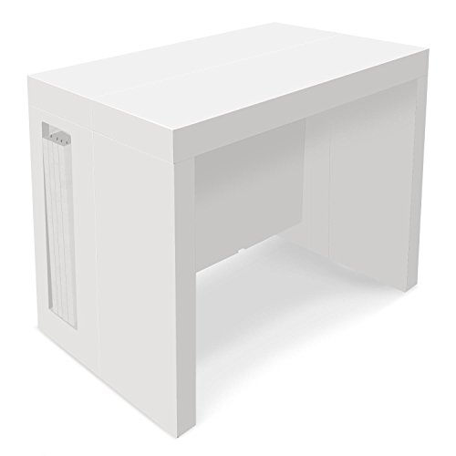 INTENSEDECO Table Console Extensible Loki Blanc laqué
