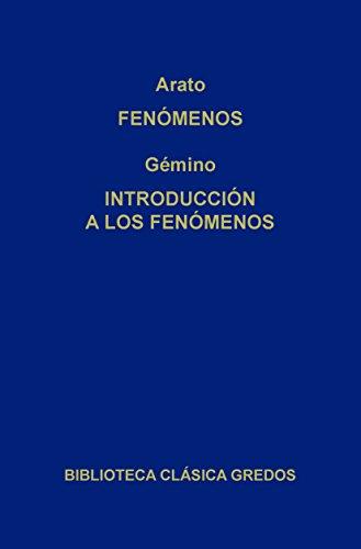 Fenómenos. Introducción a los fenómenos. (Biblioteca Clá