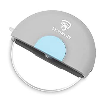 LEVINCHY Pizza Cutter Wheel Pizza Slicer cutter Premium Stainless Steel with Double-sides Blade Super Sharp and Easy To Use More Safe Protective Sheath Blue