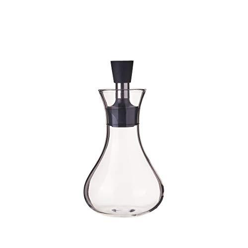 Aceitera antigoteo pequeña de cristal y acero inoxidable transparente de 320 ml - LOLAhome