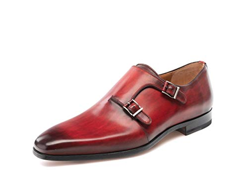 Magnanni Jamin Red Men's Monk Strap Shoes Size 9.5 US