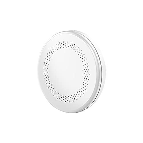 Detector Wifi smo_ke, Tuya Smart smo_ke Senor Home fi_ re smo_ke Sensor de alarma de sonido y luz, detector de alarma para el hogar dormitorio habitación del bebé