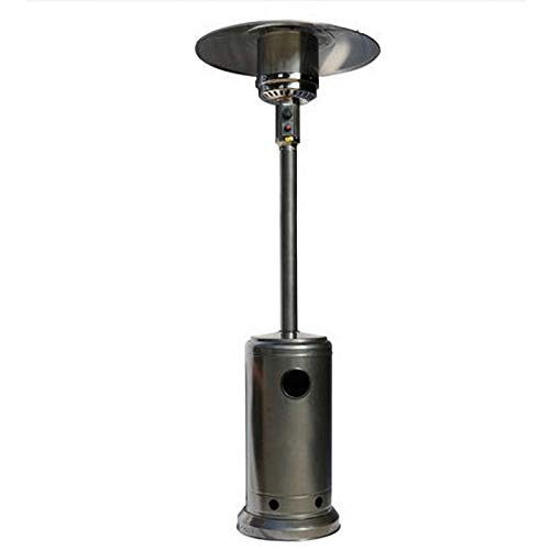 YLXD Patio Heater Propane Gas Portable Commercial Outdoor Heater Stainless Steel Floorstanding Liquid Propane Patio Heater Floor Standing with Wheels for Garden Wedding,Party