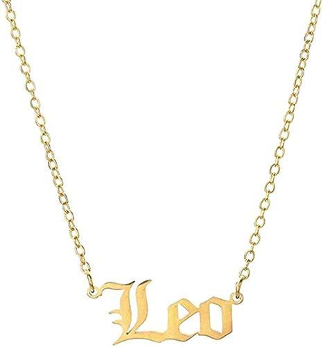 Yiffshunl Halskette 12 Sternbilder Sternzeichen Halskette für Frauen Männer Jungfrau Waage Skorpion Schütze Steinbock Aquarium Geburtstagsgeschenke