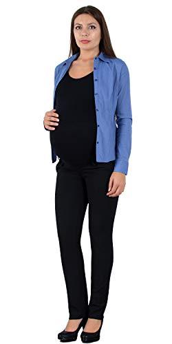 ESRA Damen Hose Schwangerschaftshose Umstandshose Straight Fit Hose für Schwangerschaft Maternity Hose J490