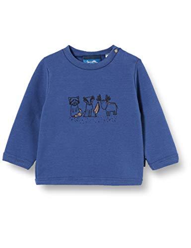 Sanetta Baby-Jungen Faded Denim Sweatshirt, blau, 074