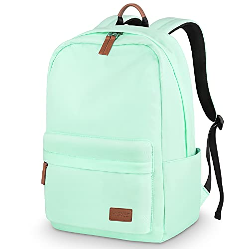 HASAGEI Mochila, Mochila Escolar Unisex Juvenil Mochila Backpack Mujer Portátil Bolso Lona Mochila Impermeable Casual Mochila Mochila Portátil Mochila Deportiva Color Sólido (Verde)