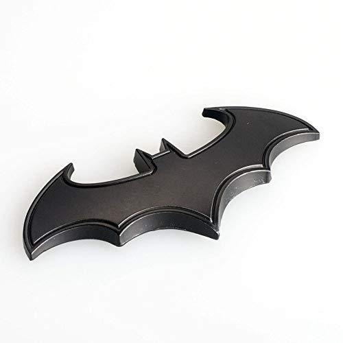 Dealetech DIY Bat 3D Metal Sticker Auto Car Motorcycle Logo Badge Emblem Tail Decals (black)
