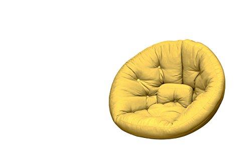 KARUP Nest Futon Chair Sedia, Cottone/Poliestere, Amarillo 748, 120x110x85 cm