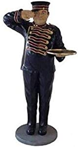 LM Treasures Butler Bellhop Life Size Restaurant Prop Decor Statue
