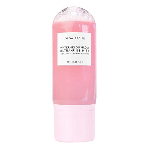 Glow Recipe Watermelon Glow Ultra-Fine Facial Spray Mist - Hyaluronic Acid Face Mist for Fresh + Glowing Skin - Hydrating Face Mist with Hibiscus AHA + Vitamin E - Glowing Skin Face Mist (75ml/2.5 oz)