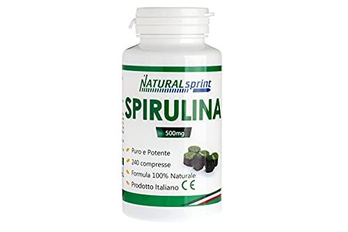 Natural Sprint - Alga Spirulina 240 compresse Vegan, No Ogm - Made in Italy