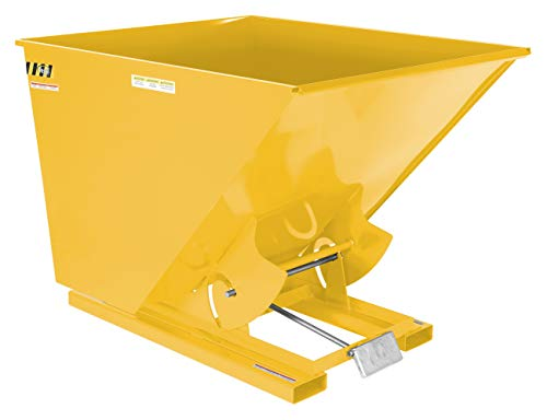 Vestil D-200-MD-YEL Self-Dump MD Hopper, 2 cu. yd, 4000 lb. Capacity, Overall L x W x H (in.) 68-3/8' x 56-5/8' x 51-3/4', Yellow
